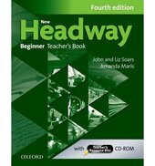 New Headway 4th Edition Beginner:Teacher's Book with Teacher's Resource (книга вчителя) - фото обкладинки книги