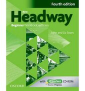 New Headway 4th Edition Beginner: Workbook with Key with iChecker CD-ROM - фото обкладинки книги
