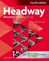 New Headway 4th Edition Elementary: Workbook with Key with iChecker CD-ROM - фото обкладинки книги