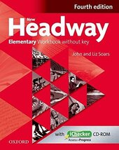 New Headway 4th Edition Elementary: Workbook without Key with iChecker CD - фото обкладинки книги
