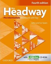 New Headway 4th Edition Pre-Intermediate: Workbook with Key with iChecker - фото обкладинки книги