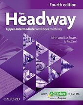 New Headway 4th Edition Upper-Intermediate: Workbook with Key with iChecker - фото обкладинки книги