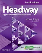 New Headway 4th Edition Upper-Intermediate: Workbook with Key with iChecker - фото обкладинки книги