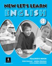 New Let's Learn English 4. Teacher's Book - фото обкладинки книги