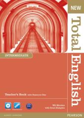 New Total English Intermediate Teacher's Book + Key + CD (книга вчителя) - фото обкладинки книги