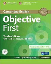 Objective First Teacher's Book with Teacher's Resources CD-ROM - фото обкладинки книги