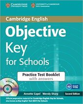 Objective Key for Schools Practice Test Booklet with Answers - фото обкладинки книги
