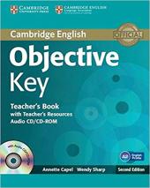 Objective Key Teacher's Book with Teacher's Resources Audio CD/CD-ROM - фото обкладинки книги