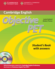 Objective PET Student's Book with answers - фото книги