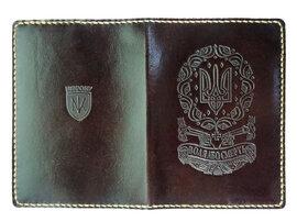 "Обкладинка на права ""Воля або смерть"" темно-коричневий - фото книги"