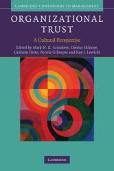 Organizational Trust: A Cultural Perspective - фото обкладинки книги