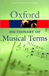 Oxford Dictionary of Musical Terms - фото обкладинки книги