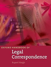 Oxford Handbook of Legal Correspondence. New Edition - фото обкладинки книги