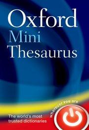 Oxford Mini Thesaurus - фото книги