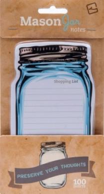 Папір для нотаток Mason Jar Sticky notes - фото книги