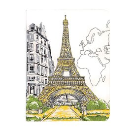 Paris Eiffel Tower Handmade Journal - фото книги