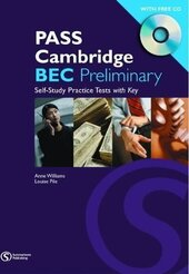 Pass Cambridge Bec Preliminary Self - Study Practice Tests with Key + CD - фото обкладинки книги