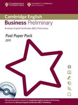 Past Paper Pack for Cambridge English Business Preliminary 2011 Exam Papers and Teacher's Booklet with Audio CD - фото книги