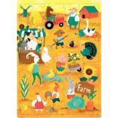 Пазли для дітей з англійськими словами. Ферма (30 слів) - фото обкладинки книги