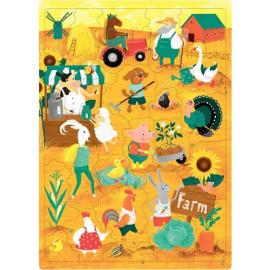 Пазли для дітей з англійськими словами. Ферма (30 слів) - фото книги