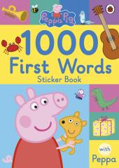 Peppa Pig: 1000 First Words Sticker Book - фото обкладинки книги