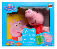 Peppa Pig: Peppa Goes to the Library. Book and Puppet - фото книги