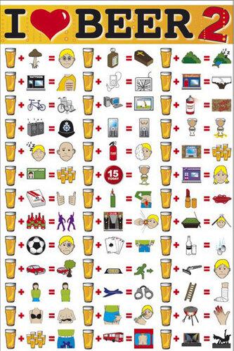 """Плакат """"I love beer (GN0256)"""""""