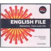 "Посібник ""English File 3rd Edition Elementary: Class Audio CDs (аудіодиск)"" Clive Oxenden - фото обкладинки книги"