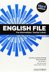 "Посібник ""English File 3rd Edition Pre-Intermediate:Teacher's Book with Test & Assessment CD"" - фото обкладинки книги"