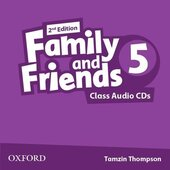 "Посібник ""Family and Friends 2nd Edition 5: Class Audio CDs (3) (аудіодиск)"" Jenny Quintana - фото обкладинки книги"