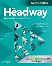 """Посібник """"New Headway 4th Edition Advanced: Workbook - фото обкладинки книги"""
