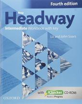 """Посібник""""New Headway 4th Edition Intermediate:Workbook with Key with iChecker CD-ROM(робочий зошит)"""" - фото обкладинки книги"""