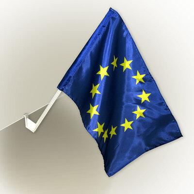 Прапорець Євросоюзу  з автофлагштоком