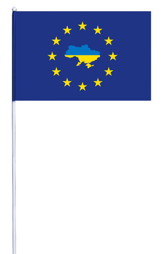 Прапорець Україна-Євросоюз атлас