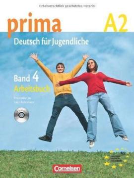 Prima-Deutsch fur Jugendliche 4 (A2). Arbeitsbuch+CD - фото книги