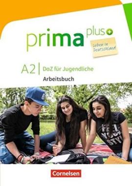 Prima plus A2. Arbeitsbuch mit MP3-Download und Lsungen (з відповідями) - фото книги