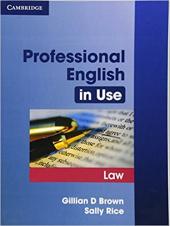 Professional English in Use Law - фото обкладинки книги