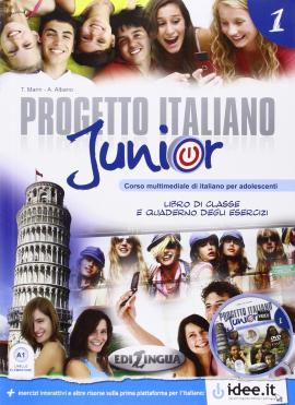 Progetto Italiano Junior 1. Libro & Quaderno + CD audio - фото книги