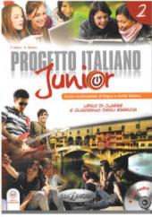 Progetto Italiano Junior 2. Libro & Quaderno + CD audio - фото обкладинки книги