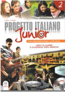 Progetto Italiano Junior 2. Libro & Quaderno + CD audio - фото книги