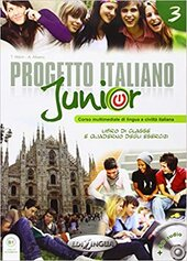 Progetto Italiano Junior 3. Libro & Quaderno + CD audio - фото обкладинки книги