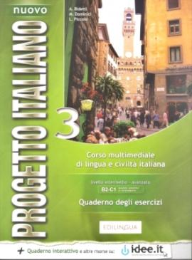 Progetto Italiano Nuovo 3 (B2-C1). Quaderno degli esercizi COLORE + CD Audio - фото книги