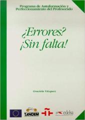 Programa De Autoformacion Y Perfeccionamiento Del Profesorado De E/Le : Errores? !!Sin Falta! - фото обкладинки книги