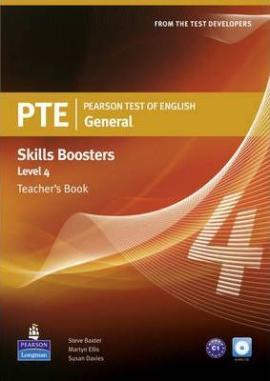 PTE Test of English General Skills Booster 4 Teacher's Book+CD (книга вчителя) - фото книги