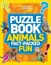 Puzzle Book Animals : Brain-Tickling Quizzes, Sudokus, Crosswords and Wordsearches - фото обкладинки книги