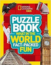Puzzle Book What in the World : Brain-Tickling Quizzes, Sudokus, Crosswords and Wordsearches - фото обкладинки книги