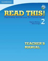 Read This! 2 Teacher's Manual + CD - фото книги
