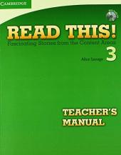 Read This! 3 Teacher's Manual + CD - фото обкладинки книги