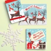 Reindeer Dash Mini Journal - фото обкладинки книги