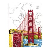 San Francisco Golden Gate Handmade Journal - фото обкладинки книги